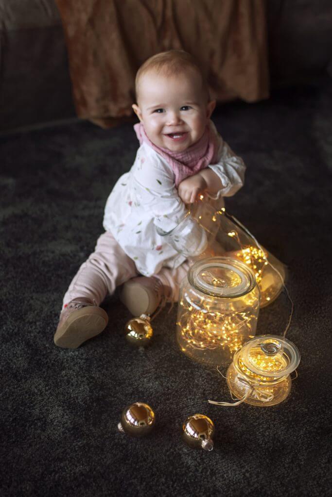 Schönes Babyshooting mit süßem Baby